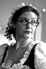 The Look (Sanvean.) Tags: people bw look contrast eyes belmont historic expressive soiree elkridge duringmartinis