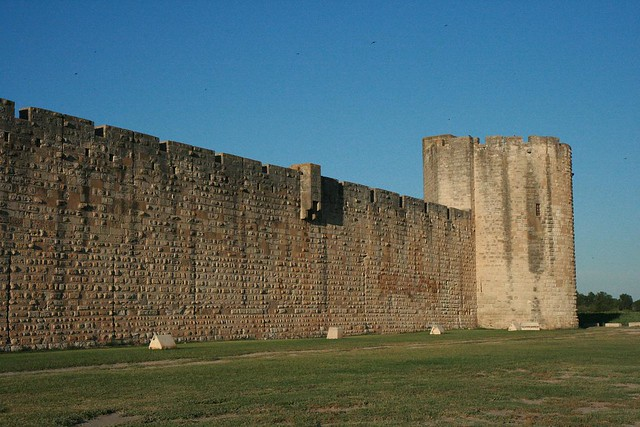 outside the south wall