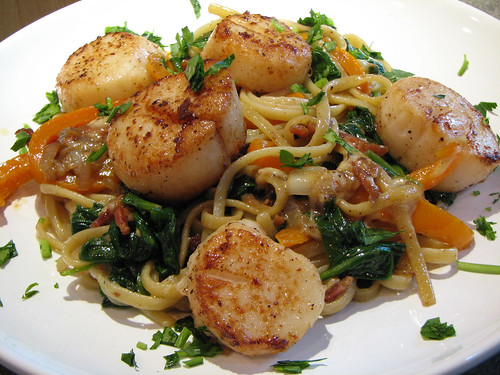 scallops and linguini