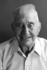 97 and Still Young (Leighanne Evelyn) Tags: old blackandwhite man boston studio east age 97 eastboston