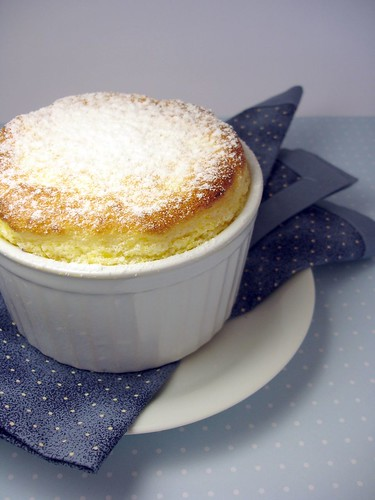 Apricot honey soufflé