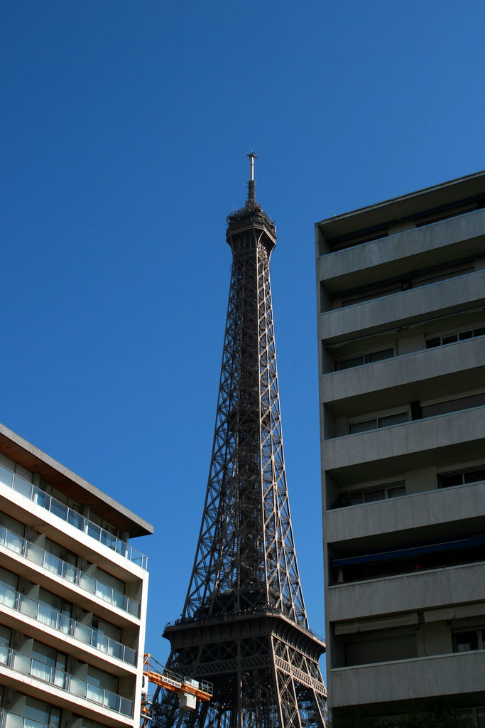Eiffel Tower from the Hilton Hotel - My story of our arrival