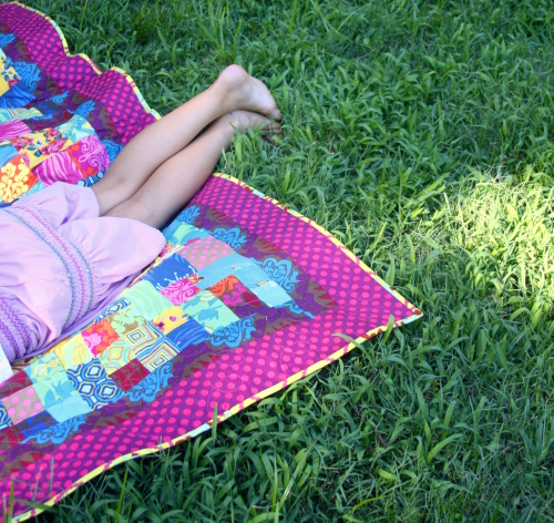 quilt in the grass