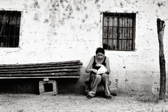 (Rai 幻の光) Tags: camera blackandwhite art film monochrome wall 35mm canon vintage guatemala rangefinder shelby canonet ql17 giii chichicastenango textured centralamerica centroamerica adox chs100 museodemascarasceremoniales museumofceremonialmasks