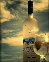 """Grey Goose"" (tonyj19) Tags: blue sky ice glass birds clouds star skies liquor vodka lime stirrer greygoose"