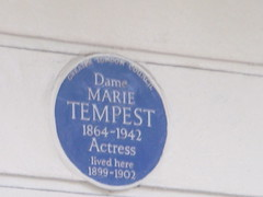 Photo of Marie Tempest blue plaque