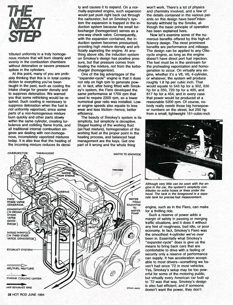 Smokey Ynick Hot Vaor Fiero Best Damn Garage In Town Information Iron Duke Engine Diagram The Following Is A Copy Of Second Yunick Vapor Article That Was Published By Rod Magazine September 2010