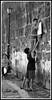 The big stretch (StephenJR) Tags: blackandwhite bw net boys basketball children climb asia downtown philippines manila filipino ladder 2008 hang bnvitadistrada bnsport