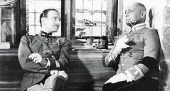 Boeldieu (Pierre Fresnay) and Rauffenstein (Erich von Stroheim