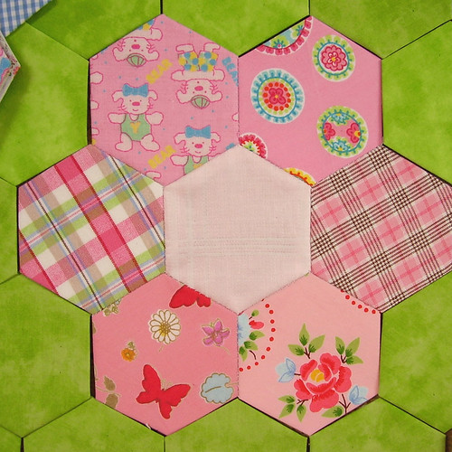 hexagons rosa - pink