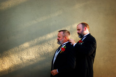 Dan and Chris, freshly married (chrisglass) Tags: bear wedding marmot