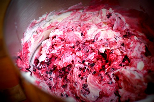 Blackberry fool - view from the KitchenAid