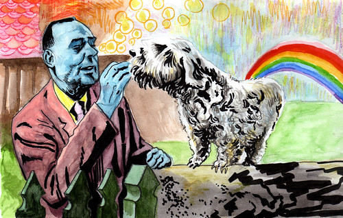 """A Blue Scotsman Feeding His Dog"", 2008"
