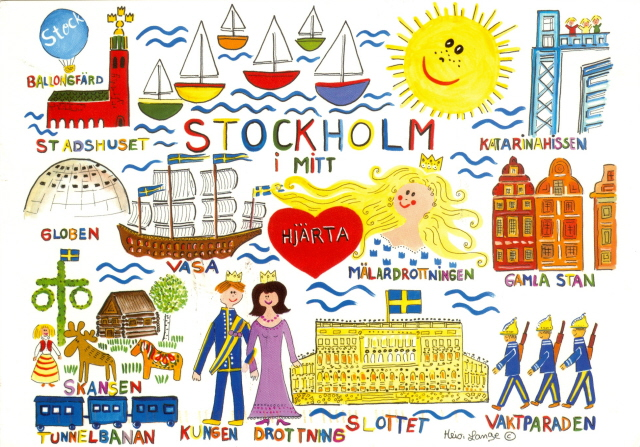 Sweden - Stockholm i mitt by 9teen87's Postcards