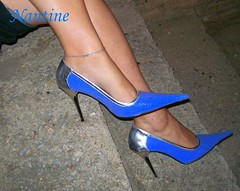 Blue - silver pumps 4 (Kwnstantina) Tags: sexy feet female fetish silver greek foot women toes pumps highheels legs sandals arches stiletto soles footfetish anklet sexylegs stileto stilletto sexyshoes heeled higharches feale highheeledpumps highheelspumps  womaninspikeheels bleustilletto