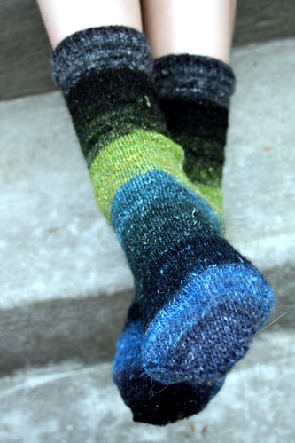 Toe-Up socks in Nor Silk Garden Sock Yarn