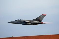 Gibraltar Tornado over the roof tops (Roy McGrail (krm gib)) Tags: nikon fighter aircraft military jet 2008 tornado gibraltar raf royalairforce d80 excapture nikon70300vrlens