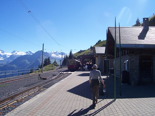 Back at the Schynige Platte railway station