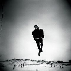 (gwendoly) Tags: summer sky bw beach water square holga scuba seasidecalifornia ixtlan ofcreativa