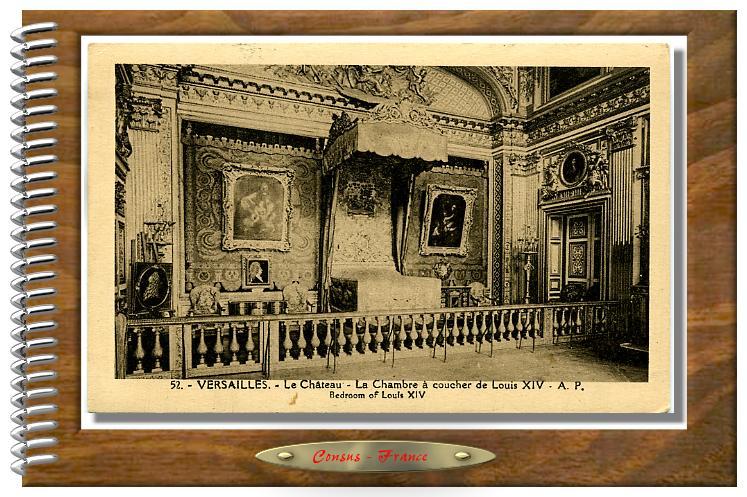 52 VERSAILLES - Château - La Chambre à coucher de Louis XIV