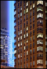 High Beams (9/11) (Linus Gelber) Tags: nyc newyork art lights memorial manhattan worldtradecenter 911 installation twintowers wtc sept11 tribute september11 tributeinlight september11th weststreet thursdaywalk canon28135mmisusm utata:project=tw126 tributeinlight2008