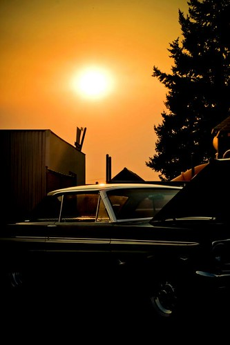 Classic Set - a car at sunset in Stayton Oregon