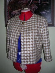 checked woolly jacket