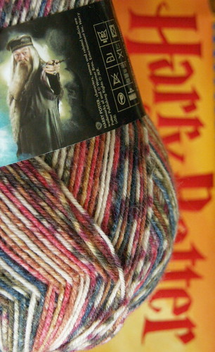 Harry Potter sock yarn, 'Dumbledore'