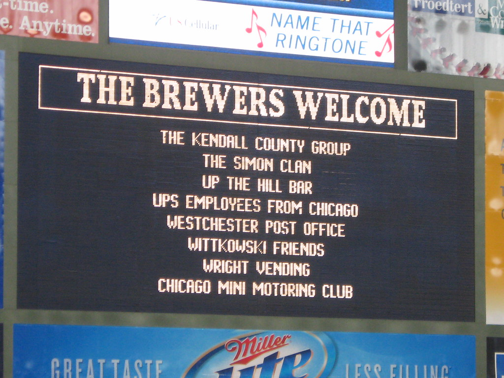 Cubs Brewers MINI event