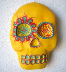 ylsk1 (skullflower.nu) Tags: art halloween dayofthedead skeleton skull gothic goth plaster diadelosmuertos calavera mexicanfolkart calaca skullflower