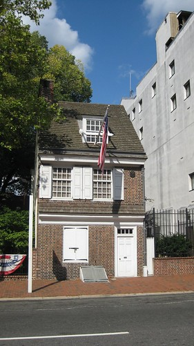 The Betsy Ross House – a direct picture from the front.