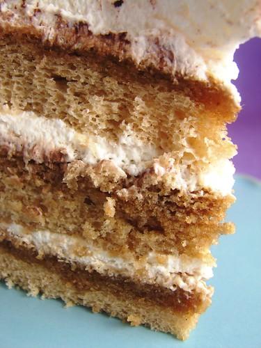 The Cake Consists Of 3 Espresso Flavored Chiffon Cake Layers That Are Soaked With A Booze An Espresso Syrup All Of This Goodness Is Frosted With A Simple