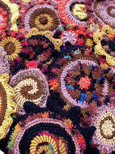 random crochet circles
