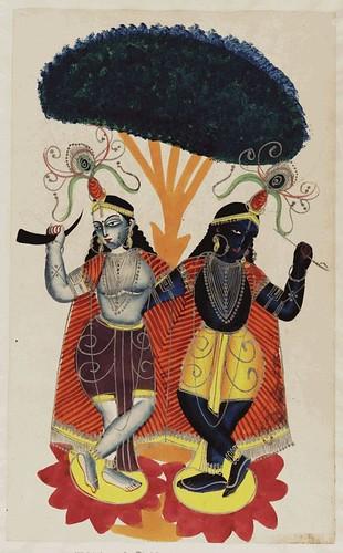 003- Krisha y su hermana Balarama danzando