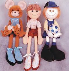 Rata e Casal de bonecos - A55 (Moldes videocurso artesanato) Tags: de e casal rata bonecos a55