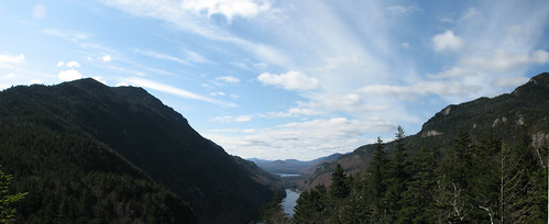 Ausable Lakes panorama from Indian Head