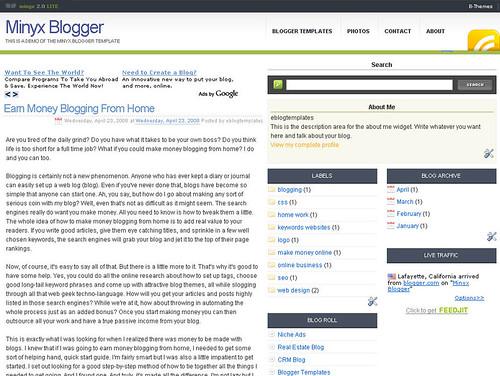 Minyx blogger template