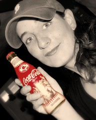 2004 World Series Red Sox Coke (J.Doyon Photography) Tags: 2004 boston bottle baseball sony redsox coke cybershot cap soda cocacola sonycybershot bostonredsox worldseries focalbw selectivecolor redsoxnation variotessar carlzeisslens dsch3 sonycybershotdsch3