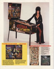 Elvira and the Party Monsters promo flyer back cover