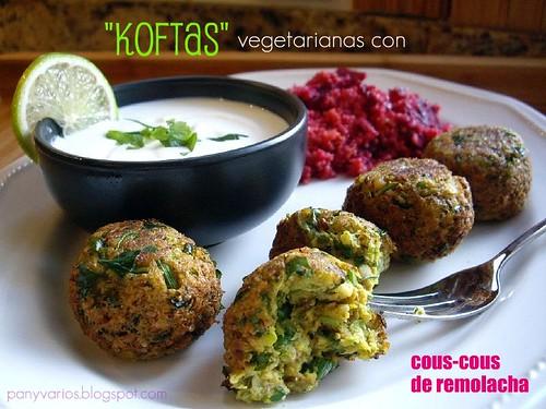 Koftas vegetarianas con cous-cous de remolacha 052