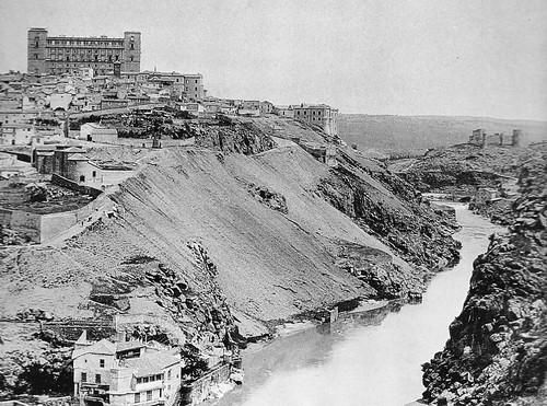 Torno del Tajo en Toledo. Fotografía de Charles Clifford, 1857
