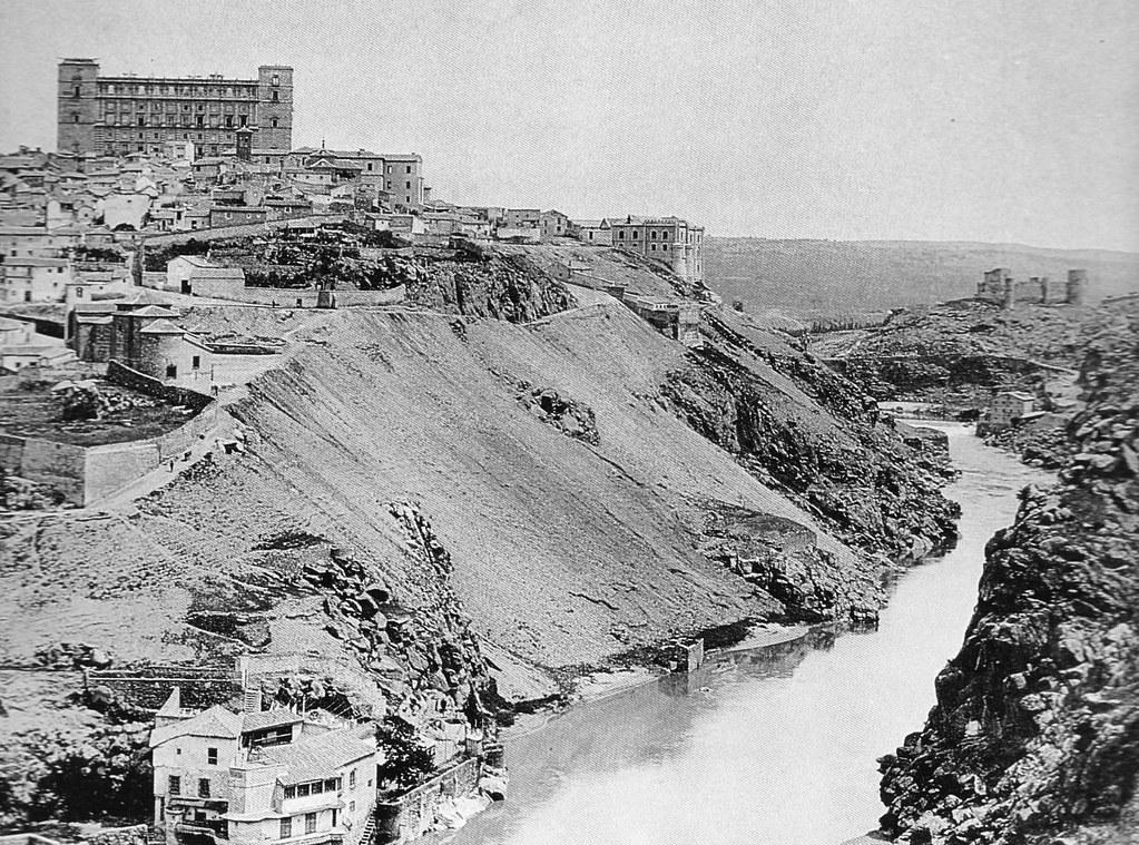 Torno del Tajo en Toledo hacia 1897. Fotografía de Hauser y Menet