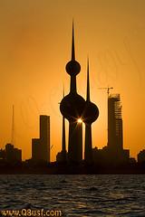 KUWAIT TOWERS (silhouette) (YOUSEF AL-OBAIDLY) Tags: silhouette kuwait kuwaittowers  aplusphoto    colourartaward  alemdagqualityonlyclub flickrlovers teacheryousef