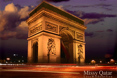 (Missy | Qatar) Tags: 3 paris france de champs arc triomphe elysee loveu2  loveutilldeath
