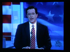 colbert on the telly