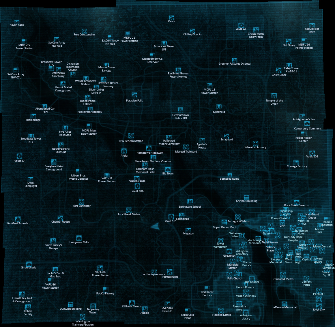 Maps World Map Fallout 3