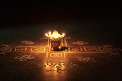 (durgeshnandini) Tags: india lime dslr jaipur oillamp mandana diwalifestival floordecoration durgeshnandini canoneoe400ddigital