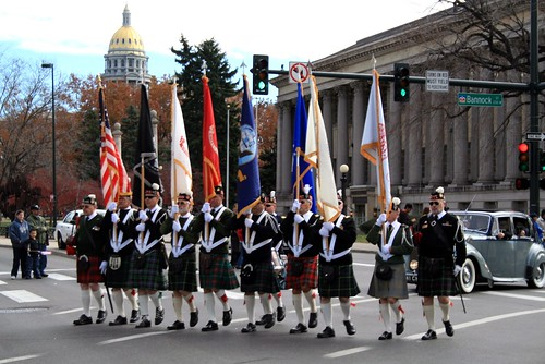 kilts on parade