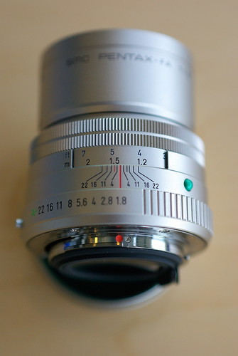 Pentax FA 77mm f/1.8 limited