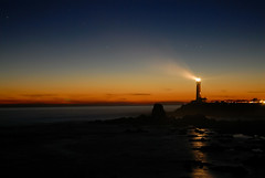 Pigeon Point Lighthouse (mischiru) Tags: california sunset usa santacruz lighthouse beach night twilight clear highway1 pacificocean halfmoonbay sanmateo pigeonpoint pescadero pacificcoast fresnellens pigeonpointlighthouse upcoming:event=871682